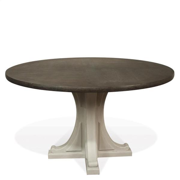 Round Pedestal Dining Table Base - Chalk Finish