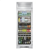 30 Inch Stainless Glass Door Right Hinge Beverage Column