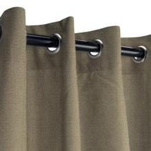 See Details - Sunbrella Canvas Taupe Outdoor Curtain with Nickel Plated Grommets