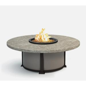 """54"""" Round Coffee Fire Pit Ht: 19"""" Valero Aluminum Base (Indicate Top, Frame, & Side Panel Color)"""