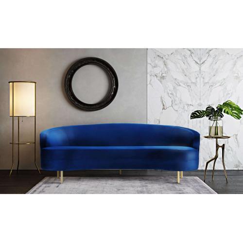 Tov Furniture - Baila Navy Velvet Sofa