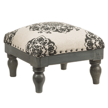 See Details - Grey Medallion Block Stool (Each One Will Vary)