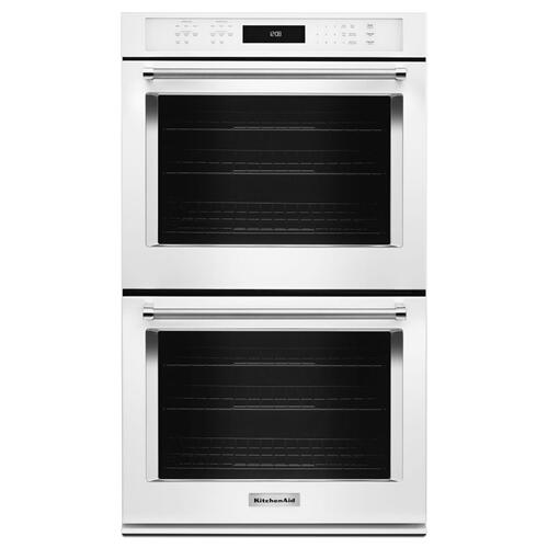 "27"" Double Wall Oven with Even-Heat™ True Convection - White"