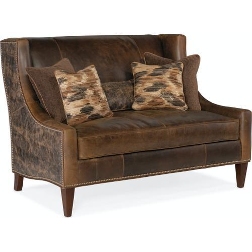 Bradington Young Lavendar Settee 8-Way Hand Tie w/Single Bench Cushion 693-85