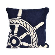View Product - Liora Manne Frontporch Ship Wheel Indoor/Outdoor Pillow Navy