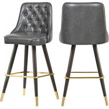 """Willa Faux Leather Bar  Counter Stool - 19.5"""" W x 18.5"""" D x 40.5"""" H"""