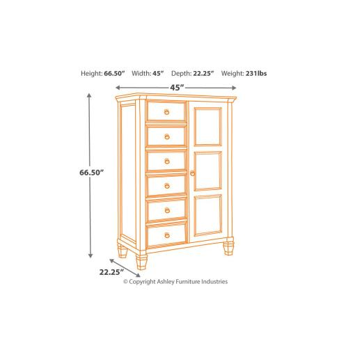 Prentice Door Chest White