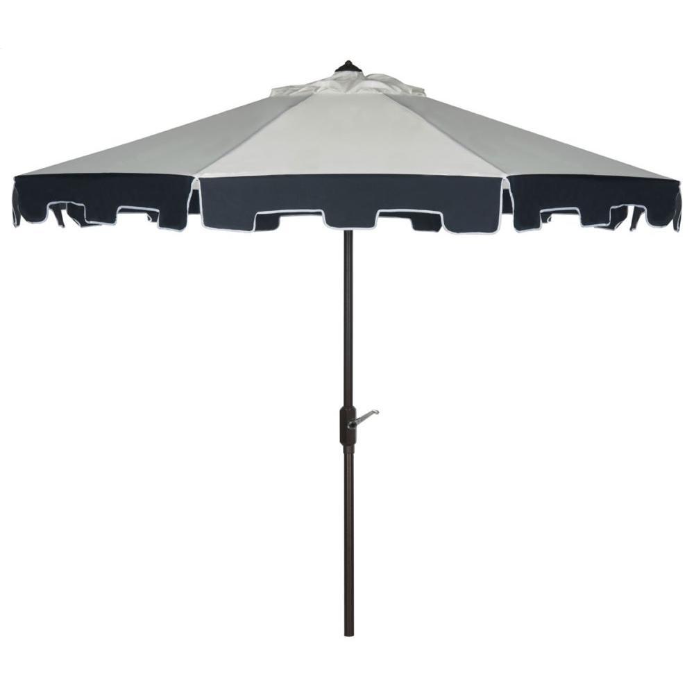 City Fashion 9ft Umbrella - Beige / Navy