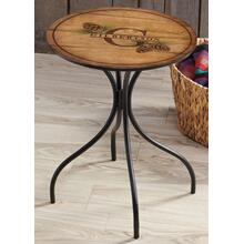 Home Sweet Home-Pinecones - Personalized Metal Side Table
