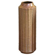 View Product - LENNON VASE- LARGE  Copper Finish on Ceramic