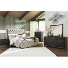 Queen Upholstered Bed With Dresser