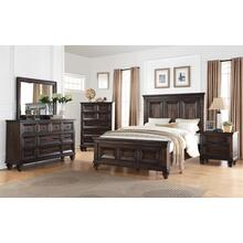 SEVILLA Queen Bedroom Set: Queen Bed, Nightstand, Dresser & Mirror
