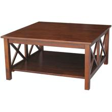 Hampton Square Coffee Table in Espresso