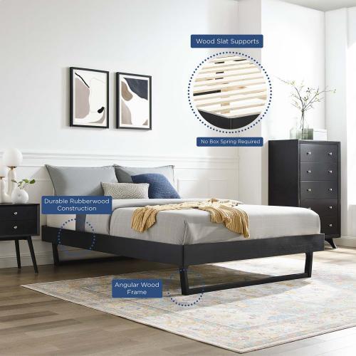 Modway - Billie Twin Wood Platform Bed Frame in Black