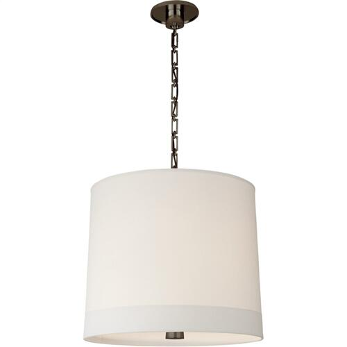 Visual Comfort BBL5110BZ-S Barbara Barry Simple Banded 2 Light 24 inch Bronze Pendant Ceiling Light