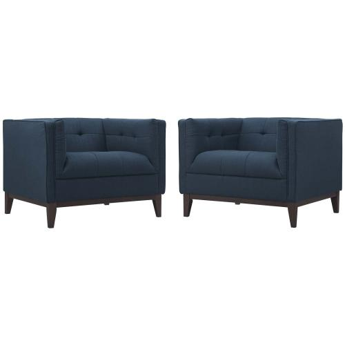 Serve Armchairs Set of 2 in Azure