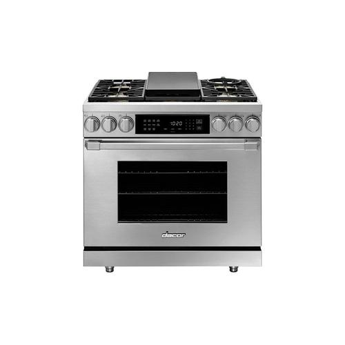 "36"" Dual Fuel Pro Range, Silver Stainless Steel, Natural Gas/High Alttitude"