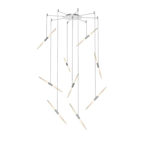 Sonneman - A Way of Light - Ballet LED Pendant [Size=9-Light, Color/Finish=Bright Satin Aluminum, Shape=Swag]