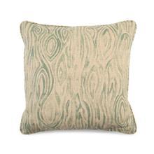 Toss Pillow with a Wood Grain Blue Pattern