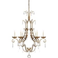 Visual Comfort CHC1501GI E. F. Chapman Middleton 6 Light 33 inch Gilded Iron Chandelier Ceiling Light