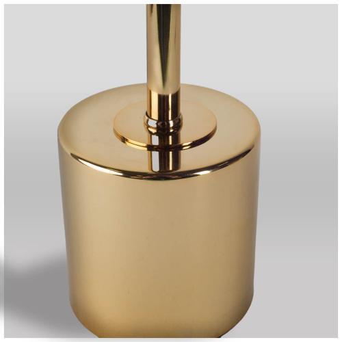 "Mercana - Mooney I (17.5""H) Metallic-Gold Metal Shade-less Table Lamp"