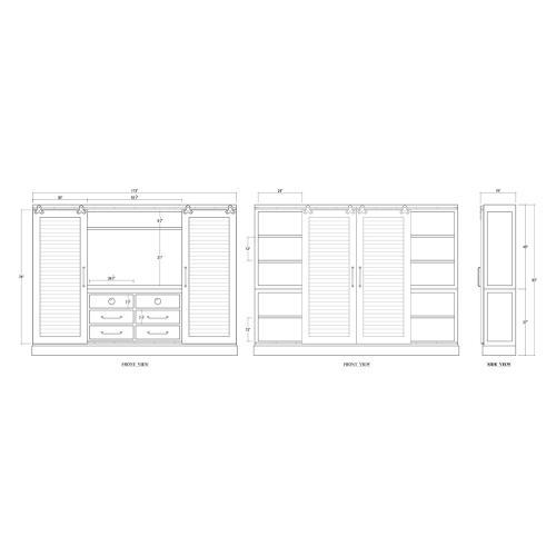 Sonoma Shutter Media Cabinet