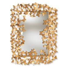 See Details - Baxton Studio Idalia Modern and Contemporary Antique Gold Finished Butterfly Accent Wall Mirror