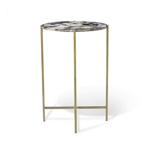 Leonie Round Side Table - Grey