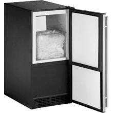 "Stainless Right-hand ADA Series / 15"" ADA Height Compliant Crescent Ice Maker"