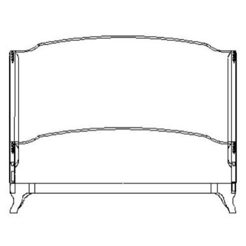 US Cali King Louis XV bed (Mahogany/Silk muscatelle)