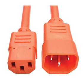 PDU Power Cord, C13 to C14 - 10A, 250V, 18 AWG, 2 ft., Orange