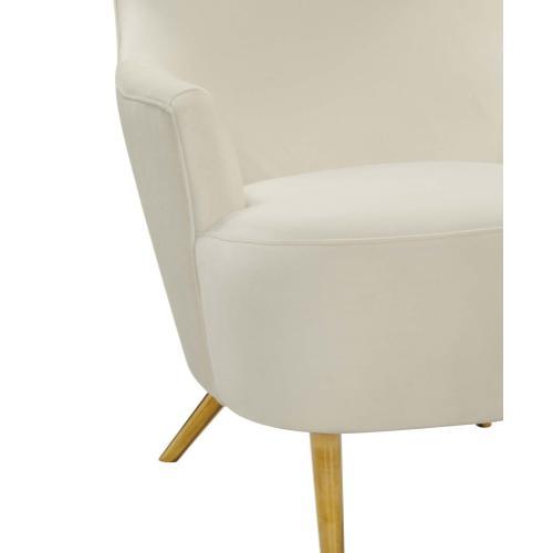 Tov Furniture - Julia Cream Velvet Wingback Chair by Inspire Me! Home Decor