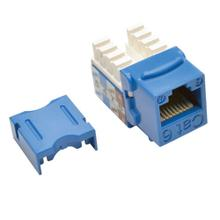 See Details - Cat6/Cat5e 110 Style Punch Down Keystone Jack - Blue, TAA