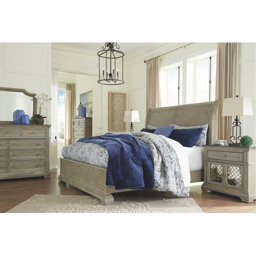 Borlend California King Sleigh Bed