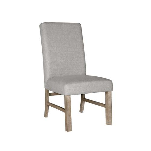 Standard Furniture - Jefferson 2-Pack Upholstered Side Chair, Distressed Brown