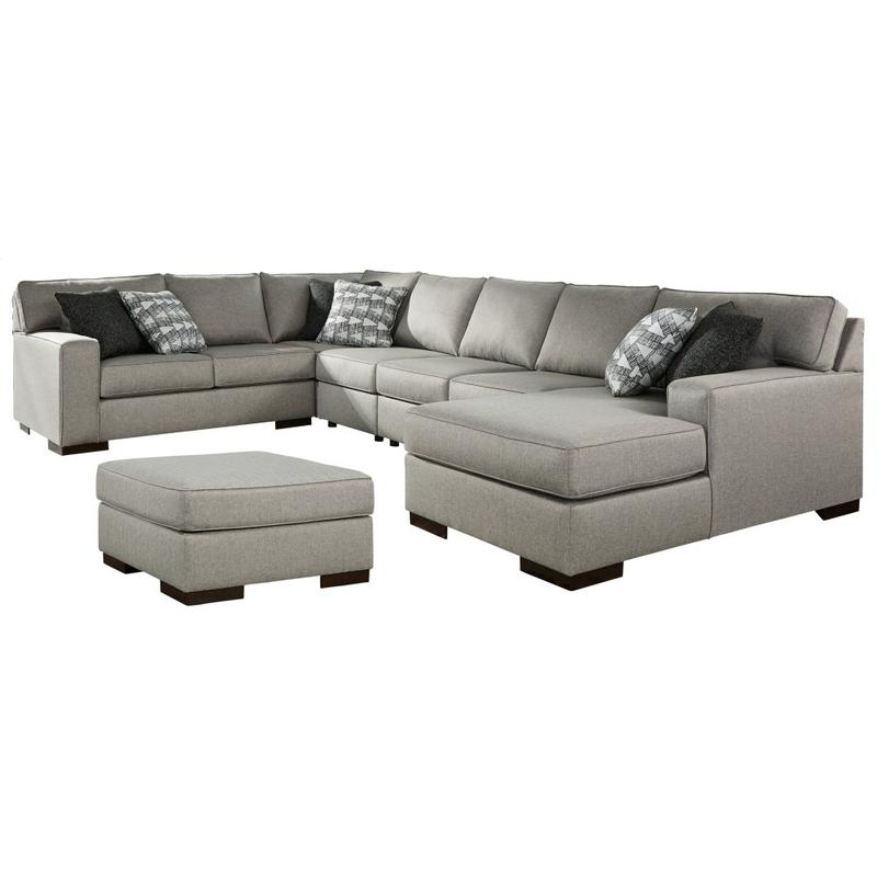 View Product - 5-piece Sectional With Ottoman