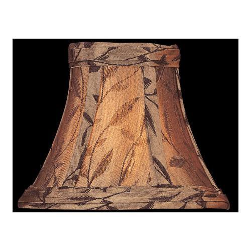 "Candelabra Shade/copper Jacquard - 3""tx6""bx5""sl"