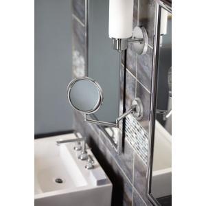 Arris chrome 5x magnifying mirror
