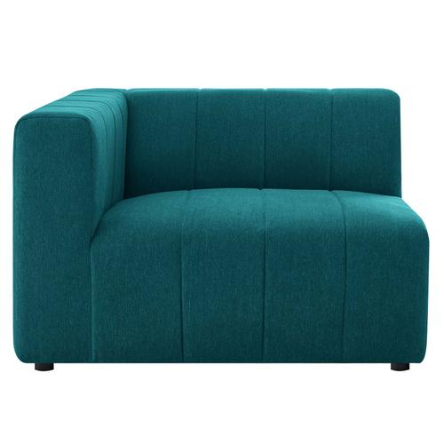Bartlett Upholstered Fabric Left-Arm Chair in Teal
