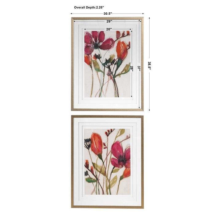 Uttermost - Vivid Arrangement Framed Prints, S/2