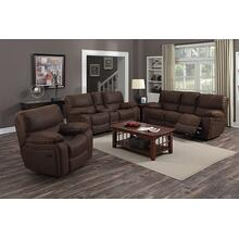See Details - Ramsey Rodeo Brown Leather-Look Reclining Set, M6016N