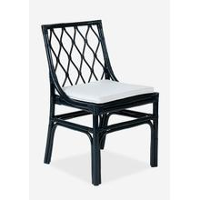 See Details - Brighton Rattan Chair with Loose Cushion-Navy Blue (Set of 2), Priced per Pair