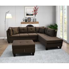 9129 Linen Sectional Sofa - RIGHT