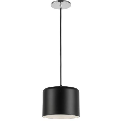 1lt Incand Pendant, PC With Mb&slv Shade