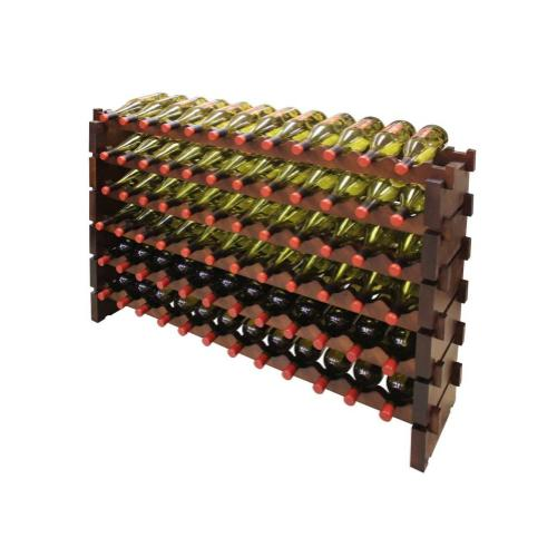 6 x 12 Bottle Modular Wine Rack (Stained)