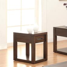 Riata - Chairside Table - Warm Walnut Finish