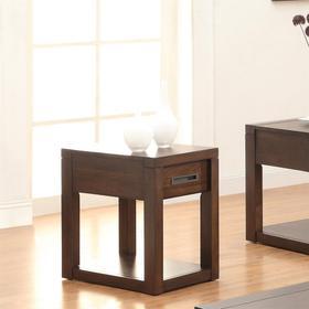 Riata - Chairside Table - Warm Walnut Finish