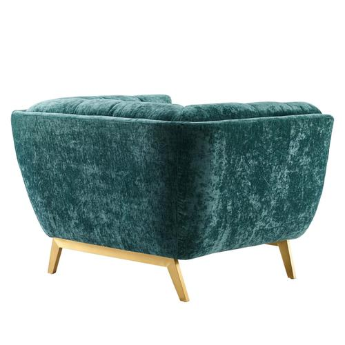Modway - Bestow Crushed Performance Velvet Armchair in Teal