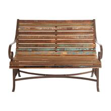 Reclaimed Teak/Iron Bench