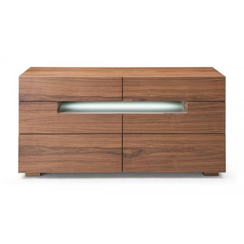 Modrest Ceres - Contemporary LED Walnut Dresser